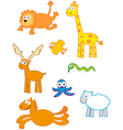 funny cute animals vector image