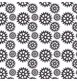 gears machine pattern isolated icon vector image
