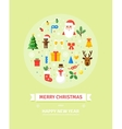 Greeting Christmas and New Year card Winter vector image vector image