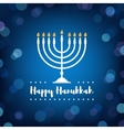 Hanukkah Candles on Bokeh Background vector image vector image