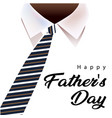 happy father day necktie white shirt background vector image