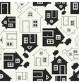 home sweet house silhouette and outline vector image