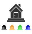 house front door icon vector image