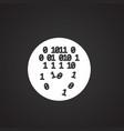 information codes on black background vector image