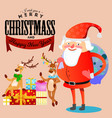 kid in hands of santa claus makes wish man in red vector image