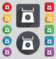 kitchen scales icon sign A set of 12 colored vector image vector image
