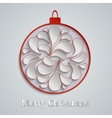 Light Christmas background with red paper vector image vector image