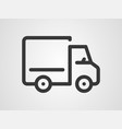 lorry icon sign symbol vector image vector image