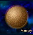 mercury planet vector image vector image