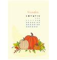 month calendar november 2018 vector image vector image