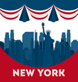 new york vector image vector image