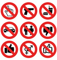 no allowed marks vector image vector image