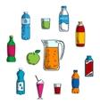 Non alcoholic beverage and drinks vector image