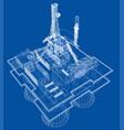 offshore oil rig drilling platform concept vector image vector image