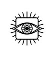 one eye sign symbol logo logotype vector image vector image