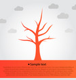orange tree silhouette background vector image