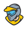 paintball player in mask sign vector image vector image