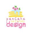 pancake original logo design emblem for vector image vector image