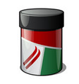 plastic jar with ski wax isolated on a white vector image vector image