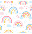 rainbow seamless pattern vector image vector image