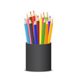 realistic detailed 3d colored pencils set vector image vector image