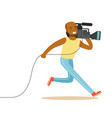running television video operator records news vector image vector image