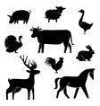 set butchery logotype templates cartoon farm vector image