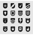 Set Emblems Shield vector image vector image