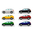 set of crossover vehicles in a variety of colors vector image vector image