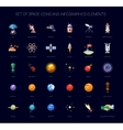 Set of space icons and infographics elements vector image vector image