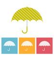 set umbrellas umbrella isolated vector image vector image