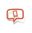 Smartphone message sticker orange vector image
