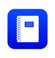spiral notepad icon digital blue vector image vector image