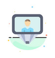user profile id login abstract flat color icon
