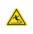 warning wet floor vector image vector image