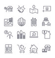 web icon set real estate property realtor real vector image vector image