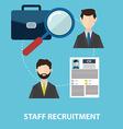 Employee staff recruitment vector image