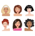 A collection of portraits of women vector image vector image