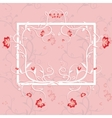 Abstract Floral Greeting card with frame Trendy vector image