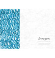 abstract hand drawn blue background with place for vector image vector image