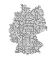 abstract schematic map of germany from the black vector image vector image