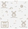 Air windmill travel seamless pattern Thin line ico vector image vector image