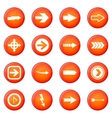 Arrow icons set vector image vector image