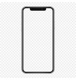 black phone mock up with transparent screen vector image vector image