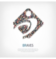 braves people sign 3d vector image