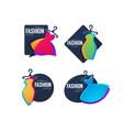 collection fashion show logo label emblems vector image vector image