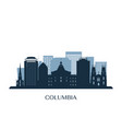 columbia skyline monochrome silhouette vector image vector image
