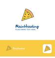 creative pizza logo design flat color logo place vector image