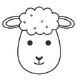 cute sheep character icon vector image vector image