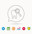 dental diagnostic icon tooth hygiene sign